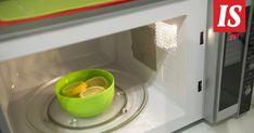 Kokeile mikron putsauksessa salaista asetta, sitruunaa. Microwave, Kitchen Appliances, Cleaning, Tableware, Tips, Diy Kitchen Appliances, Home Appliances, Dinnerware, Tablewares