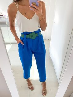Classy Outfits, Chic Outfits, Fashion Outfits, Miami Fashion, Look Fashion, Colourful Outfits, Colorful Fashion, Color Blocking Outfits, Lawyer Outfit