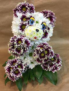 Игрушки из Цветов  Панда. Unique Flower Arrangements, Funeral Flower Arrangements, Funeral Flowers, Unique Flowers, Flower Centerpieces, Beautiful Flowers, Flower Box Gift, Flower Boxes, Flower Crafts