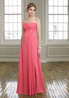 Strapless Beaded Chiffon Bridesmaid Dress 76.48 Bride Gowns 87d720b5b640