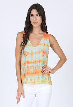 Sasha Summer Tie Dye tank #kayceline