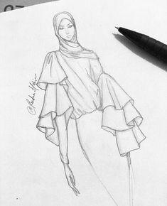 Fashion Design Sketches Hijab 70 New Ideas Fashion Design Sketches . - Fashion Design Sketches Hijab 70 New Ideas Fashion Design Sketches Hijab 70 New Ideas - Dress Design Sketches, Fashion Design Sketchbook, Fashion Design Drawings, Drawing Sketches, Fashion Design Illustrations, Vintage Fashion Sketches, Fashion Figure Drawing, Drawing Fashion, Fashion Model Sketch