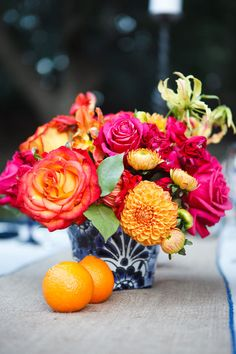 Love love love the hot pink and orange