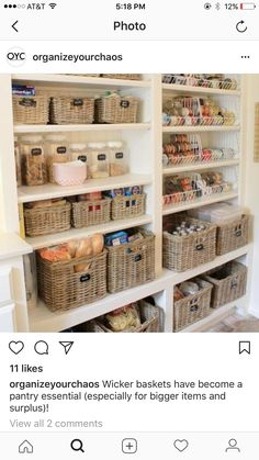 Pantry canned food storage idea