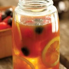 This ginger punch is flavored with lemon juice and sweetened with honey and molasses for a refreshing drink that quenches even the fiercest summer thirst.
