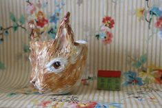 squirrel cup by Julie Whitmore Pottery