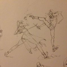 #action #sketch #fight wooo!