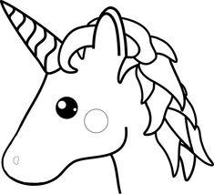 Unicorn Outline - Black & White Unicorn Quilt Pattern Unicorn Outline, White Unicorn, Pom Pom Crafts, Unicorn Head, Quilt Patterns Free, Line Drawing, Line Art, Coloring Pages, Applique