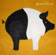 Piggy Applique Block | Wee Folk Art