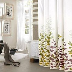 New Premium Polyester Design Shower Curtain Vibrand Colors With Free Hooks #QubicBath #Country