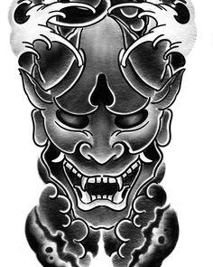 Không có mô tả ảnh. Japanese Mask Tattoo, Japanese Tattoo Symbols, Japanese Tattoo Designs, Japanese Sleeve Tattoos, Samurai Mask Tattoo, Hannya Mask Tattoo, Hanya Tattoo, Dragon Head Tattoo, Dragon Sleeve Tattoos