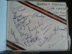Autographs Barnet Football Club 1st Team 1949-1950