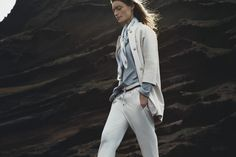 Spring-Summer 2017 campaign by Pauw Amsterdam. UK photographer Mark Sanders uses the rugged volcanic island of Lanzarote as a powerful backdrop to display this season synergy between contemporary designs and timeless elegance. Immerse yourself in the story and indulge in the featured pieces by Pauw Amsterdam. In this image: #PauwAmsterdam and #BrunelloCucinelli. #CuratedLuxury