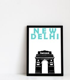 New Delhi Print: India Gate.  This print is professionally printed on acid-free archival matte paper (230 g). It is water-resistant and guaranteed not to