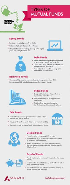 Infographics on Different Types of Mutual Funds