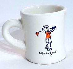 Life Is Good Golf Golfer Coffee Cup Mug Do What You Like Like What You Do White  #LifeIsGood