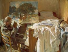 What are the Best Interior Color Schemes? - laurel home | exquisite colors in this self-portrait by John Singer-Sargent | a helpful hint: To come up with the perfect color scheme for your interiors, look to the fine art. It's all there!