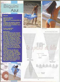 lo spazio di lilla: Bikini crochet, schemi / Crochet bikini, free patterns