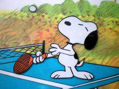 Tennis player Snoopy