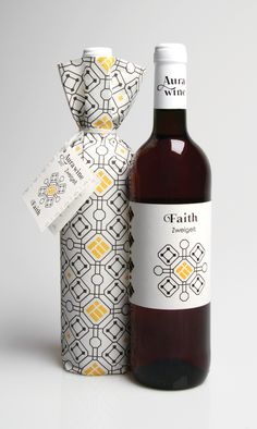 Aura Wine Branding (Student Project) packaging by Anca Stan