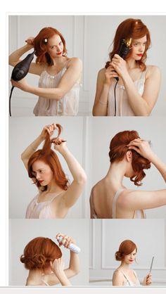 Kaip pasidaryti populiarią vintažinę šukuoseną