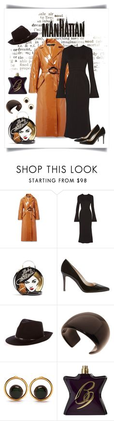 """""""Ellery Nine to Five Pod Vinyl Trench Coat"""" by romaboots-1 ❤ liked on Polyvore featuring E L L E R Y, Charlotte Olympia, Karen Millen, MaxMara, L. Erickson, Marni and Bond No. 9"""