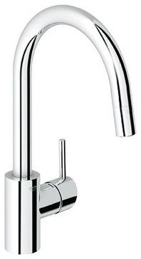 Grohe Single Handle Pull Down Dual Spray Kitchen Faucet - contemporary - kitchen faucets - other metro - by Rebekah Zaveloff