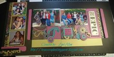 """layout by Lori Allen using CTMH Laughing Lola paper... photo BEFORE 12"""" Flip Flaps were added"""