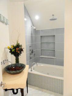 tile ideas for shower/tubs | Fiberglass Shower Surround Design Pictures Remodel Decor And Ideas ...