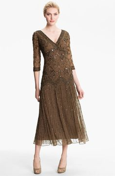 Pisarro Nights Beaded Mesh Dress | Nordstrom something to consider for my son's wedding
