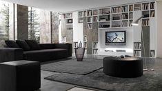 Pari&Dispari knihovna v obývacím pokoji / modern bookcase in living room Italian Furniture, Modern Furniture, Furniture Design, Living Room Bookcase, Regal Design, Modern Bookcase, Space Saving Furniture, Furniture Manufacturers, Classic House