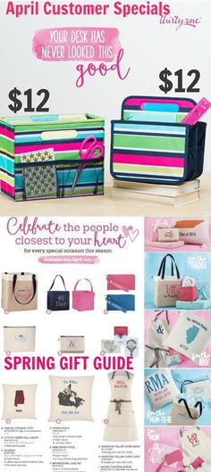 Thirty-One Gifts April specials and spring gift guide mythirtyone.com/trishcasselberry