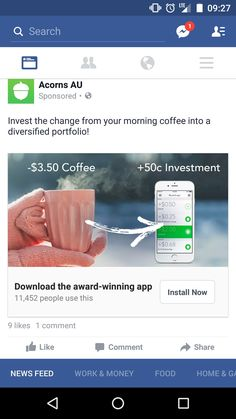 Morning Coffee, Investing, App, Facebook, Apps