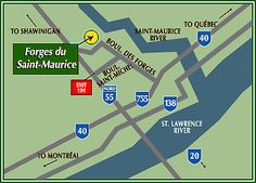 Parks Canada - Forges du Saint-Maurice National Historic Site - How to Get There