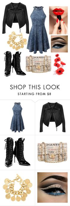 """""""cute outfit"""" by kaja-232 ❤ liked on Polyvore featuring Sophy Robson, Giuseppe Zanotti and Chanel"""