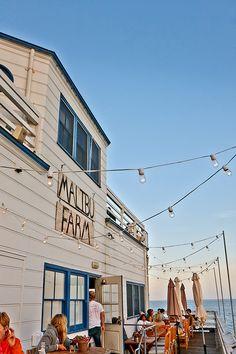 Malibu Farm on Malibu pear, Passific Palissade, Los Angeles, USA Malibu California, California Travel, Malibu Pier, Pacific Coast Highway, Pacific Ocean, Malibu Farm Cafe, Santa Monica, Oh The Places You'll Go, Places To Visit