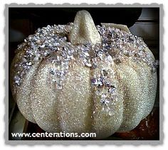 Fall Wedding Centerpieces...  dripping with rhinestones!