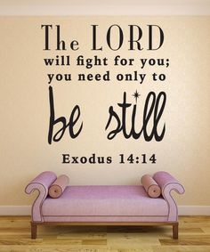 Nuovo Creations features a wide variety of Christian Scripture Bible Verses Wall Decals. Our vinyl decal quotes can inspire and encourage you, why not put it somewhere where you will see it daily, and
