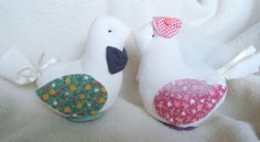 Vintage Cake Topper Pillow birds quilting decor can be done in Wedding Colors