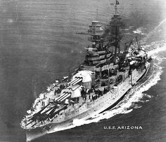 USS Arizona with President Hoover on board March 1931.