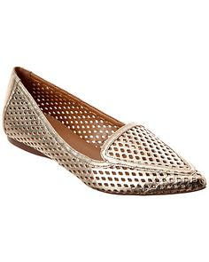french sole metallic perf flat
