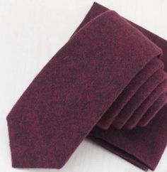 New Country Soft Wine Skinny Wool Tie. Excellent Quality & Reviews. Uk Seller. | eBay