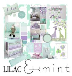 """""""Lilac and Mint Nursery"""" by sheri-gifford-pauline ❤ liked on Polyvore featuring interior, interiors, interior design, home, home decor, interior decorating, New Look, Just Diamond, colorchallenge and lilacandmint"""