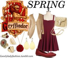 """Gryffindor Seasons - Spring"" by nearlysamantha on Polyvore"