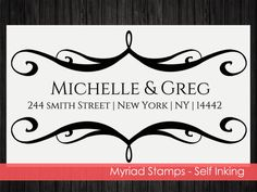Self Inking Stamp Envelope  Custom Address by LittlePrintsStamps