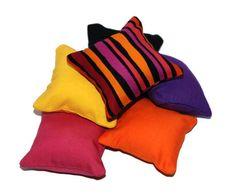 Colorful Catnip Pillows (set of 6). $12.00, via Etsy.