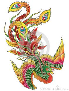 Japanese Phoenix by Krookedeye, via Dreamstime