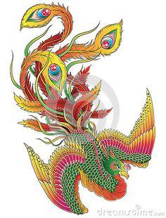Japanese Phoenix by Krookedeye, via Dreamstime
