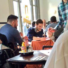 """February, 27: Jamie Dornan and Dulcie in London. """