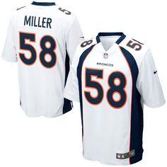 bf707b958 Dalvin Cook jersey Mens Denver Broncos Von Miller Nike White Game Jersey  Broncos Demaryius Thomas 88